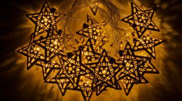 LED svetelná reťaz - zlaté hviezdičky