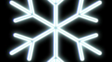 LED svetelná vločka- priem. 100cm