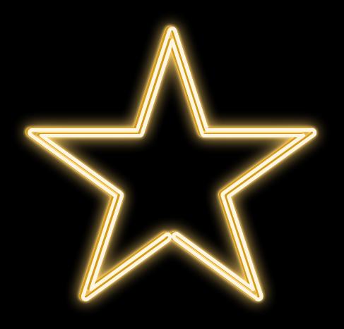 LED svetelná hviezda- priem. 80cm