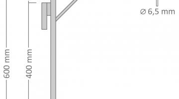 Nastaviteľný držiak motívov na stĺpy 60 x 44cm pre 2x U20S