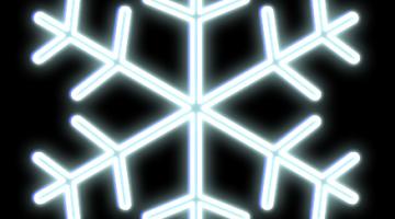 LED vločka závesná