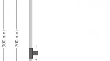 Držiak motívov na stĺpy VO pre dekory 60 - 80 cm
