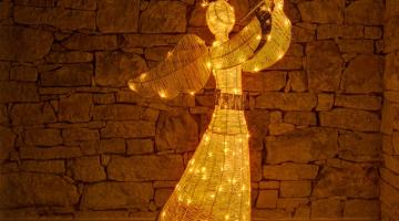 Svetelný anjel 122 cm
