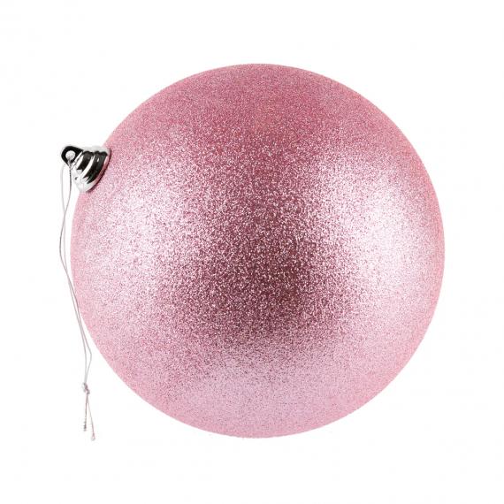Jemne ružová guľa glitter