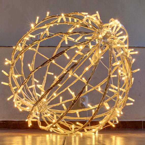 LED svetelná guľa teplá biela 60cm